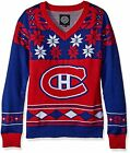 Montreal Canadiens NHL Ugly Christmas Womens V-Neck Sweater $44.99 USD on eBay