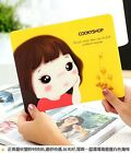 Cute Rectangle Cookie Girl Mouse Pad Mousemat Laptop Computer Accessories