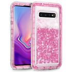 For Samsung Hybrid Bling Liquid Glitter Rubber Protective Case Hybrid TPU Cover