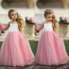 Pink Princess Baby Kids Girls Tulle Tutu Floral Dress Party Dresses Sundress New