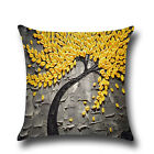 Vintage Geometric Flower Linen Cotton Pillow Case Cushion Cover Home Sofa Decors