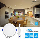 "TORCHSTAR 12W Ultra-thin 6"" Dimmable LED Recessed Ceiling Downlight, Wafer Light"
