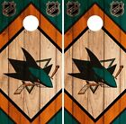 San Jose Sharks Cornhole Wrap NHL Game Board Skin Set Vinyl Decal CO205 $39.95 USD on eBay