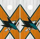 San Jose Sharks Cornhole Wrap NHL Wood Game Board Skin Set Vinyl Decal CO207 $39.95 USD on eBay