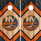 New York Islanders Cornhole Wrap NHL Wood Game Board Skin Set Vinyl Decal CO239 $39.95 USD on eBay