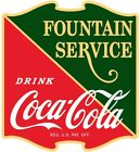 Drink Coca-Cola Fountain Service 1930s Wall Decal Restaurant Kitchen Decor