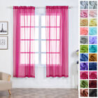 Sheer Organza 52 x 84-Inch Window Drapes Curtain 2 Panels Home Party Wedding