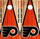 Philadelphia Flyers Cornhole Wrap NHL Game Skin Set Vinyl Decal Decor CO256 $39.95 USD on eBay