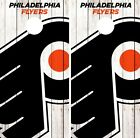 Philadelphia Flyers Cornhole Wrap NHL Logo Game Board Skin Set Vinyl Decal CO257 $59.95 USD on eBay