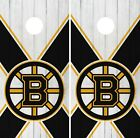 Boston Bruins Cornhole Wrap NHL Wood Game Board Skin Set Vinyl Decal Art CO275 $39.95 USD on eBay