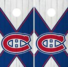 Montreal Canadiens Cornhole Wrap NHL Wood Game Skin Set Vinyl Decal CO302 $39.95 USD on eBay
