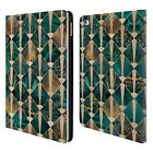 ELISABETH FREDRIKSSON GEOMETRIC DESIGN PATTERN LEATHER BOOK CASE FOR APPLE iPAD