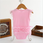Princess Newborn Baby Girls Summer Outfit Clothes Set Bodysuit Short Sleeve 0-1Y