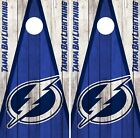 Tampa Bay Lightning Cornhole Wrap NHL Wood Game Board Skin Set Vinyl Decal CO315 $39.95 USD on eBay