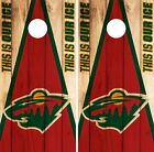 Minnesota Wild Cornhole Wrap NHL Game Board Skin Set Vinyl Decal Art CO348 $39.95 USD on eBay