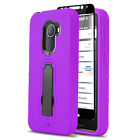 IMPACT SHOCKPROOF COVER PHONE CASE FOR [JITTERBUG SMART 2] +BLACK TEMPERED GLASS