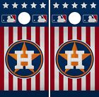 Houston Astros Cornhole Wrap MLB America Game Board Skin Set Vinyl Decal CO396 on Ebay