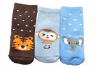Baby Boys Winter Thick Cotton  Animal Socks Tiger Elephant Monkey 3-Pack 3-36M