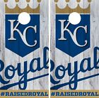 Kansas City Royals Cornhole Wrap MLB Logo Game Board Skin Set Vinyl Decal CO408 on Ebay