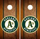 Oakland Athletics Cornhole Wrap MLB Game Board Skin Set Vinyl Decal Art CO431 on Ebay