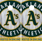 Oakland Athletics Cornhole Wrap MLB Logo Game Board Skin Set Vinyl Decal CO432 on Ebay