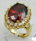 New Style Finger Ring Big Red Cubic Shape Color Zircon Ring