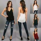Women V-Neck Halter Faux Wrap Draped Solid Casual Loose Chiffon Blouse DZ88