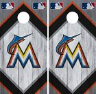 Miami Marlins Cornhole Wrap MLB Wood Game Board Skin Set Vinyl Decal CO493 on Ebay
