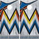 Miami Marlins Cornhole Wrap MLB Logo Game Board Skin Set Vinyl Decal Decor CO495 on Ebay