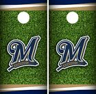 Milwaukee Brewers Cornhole Wrap MLB Field Game Board Skin Set Vinyl Decal CO497 on Ebay
