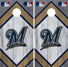 Milwaukee Brewers Cornhole Wrap MLB Wood Game Board Skin Set Vinyl Decal CO499 on Ebay