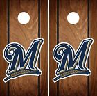 Milwaukee Brewers Cornhole Wrap MLB Game Board Skin Set Vinyl Decal Art CO500 on Ebay