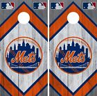 New York Mets Cornhole Wrap MLB Wood Game Board Skin Set Vinyl Decal CO505 on Ebay