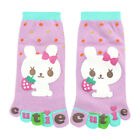 Girl Ankle Length Rabbit Letters Print Stretchy Toe Socks 8-9.5