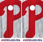 Philadelphia Phillies Cornhole Wrap MLB Logo Game Skin Set Vinyl Decal Art CO514 on Ebay