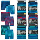 6 Pairs Men's Cotton Stretch Stripe Boxer Shorts Trunks Button Front Keyhole