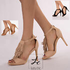WOMEN'S PARTY STILETTO High Heel Ankle Strap Formal Open Toe Shoes  SIZE 3-8