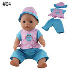 Doll Clothes for 43cm Baby Born Zapf Doll Jumpsuit Suit With Hat Doll Pajamas
