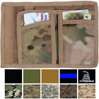 Tactical Camo Trifold Wallet Nylon Army Commando Military Camouflage Tri-Fold