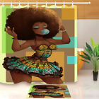 Внешний вид - Makeup African American Afro Black Woman Shower Curtain Liner & Bathroom Mat 72""