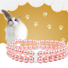 New Adjustable Pet Pendant Jewelry Dog Pearl Necklace Cat Collar Chain Pinkset