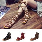 US STOCK FASHION WOMENS GLADIATOR ROMAN FLAT THONG FLIP FLOPS LADY SANDALS SHOES