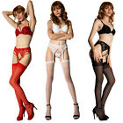 Внешний вид - Coquette Thigh High Sheer Stockings - Reg and Plus Sizes - Use With Garter Belt