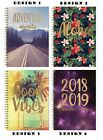 2018 2019 A5 Week to View Academic Mid year Spiral Hardback StudentTeacher Diary