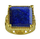 Lapis 9.97 Ct Solitaire Ring Authentic 925 Silver Fashion Woman Stunning Jewelry