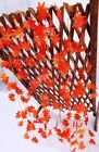 12 pack Autumn Artificial Silk Maple Leaf Garland Autumn Maple Leaf DIY Decor