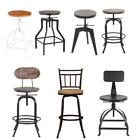 metal shop stool - Industrial Metal / Wood Vintage Shop Bar Stool Swivel / Height Adjustable N1A3