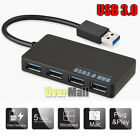 High Speed 4-Port USB 3.0 Multi HUB Splitter Expansion Cable Adapter Laptop PC