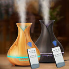 400ml 7 LED Remote control Ultrasonic Air Humidifier Diffuser Essential Oil Mist