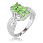 Ladies Shipton and Co Silver and Tsavorite Ring RQA595TS